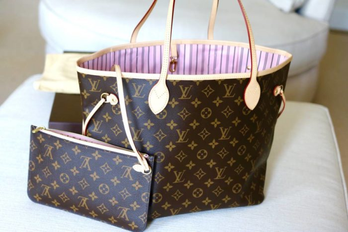 Loius Vuitton Neverfull Monogram Rose Ballerine
